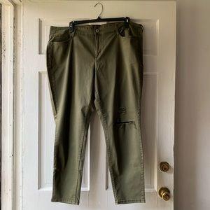 Arizona Jean Co Army Green Jeggings
